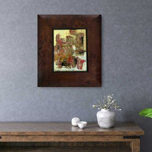 Framed Abstract Painting Modern Mixed Media